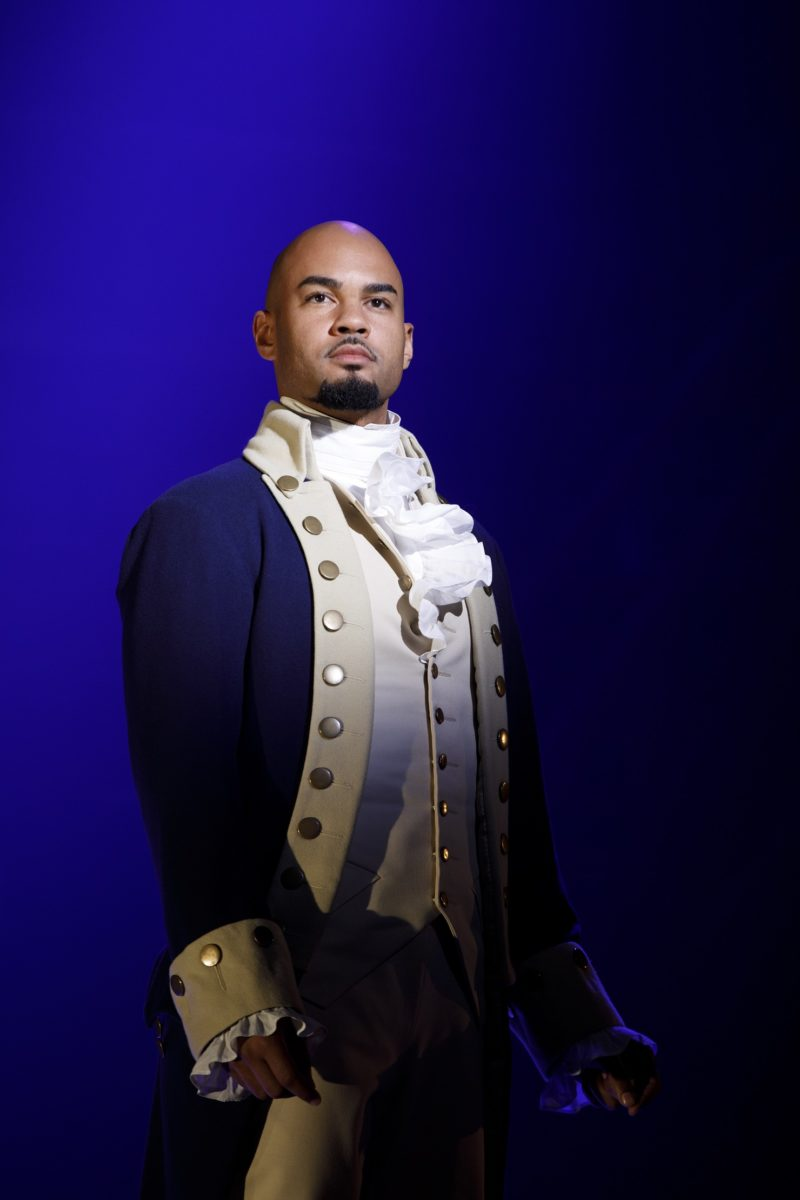 """Aaron Burr stands alone on stage singing """"Wait For It."""""""