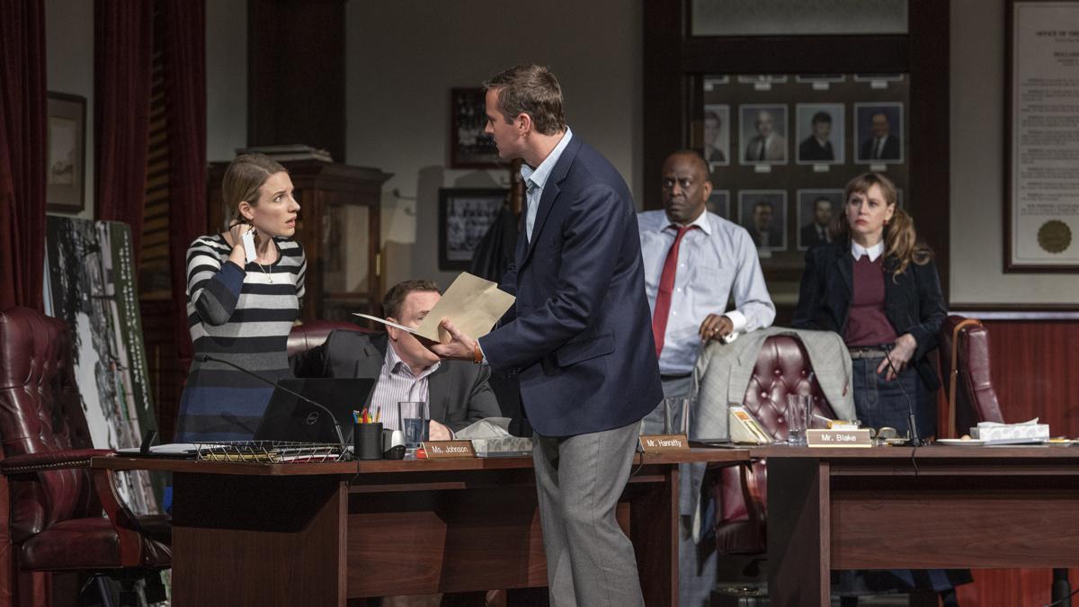 Show Photos - The Minutes - 3/20 - Jessie Mueller - Armie Hammer - K. Todd Freeman - Sally Murphy - Photo: Michael Brosilow