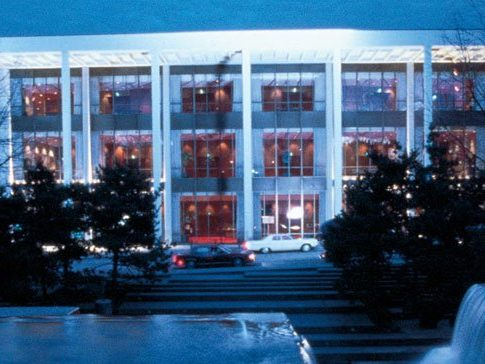 Front of Keller Auditorium